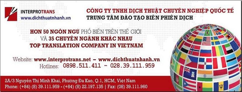 Công ty Dịch thuật chuyên nghiệp quốc tế Interprotrans