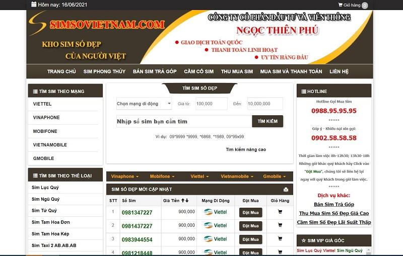 simsovietnam.com nơi bán sim số giá rẻ tại TPHCM