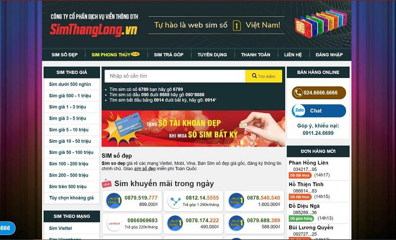 Simthanglong.vn là web sim số đẹp giá rẻ tphcm