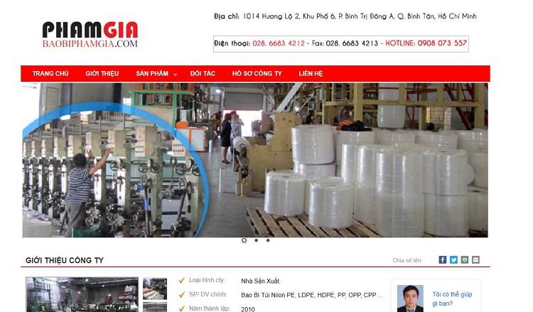 Công ty TNHH sản xuất bao bì Phạm Gia