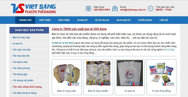 Công ty TNHH sản xuất bao bì Việt Sang