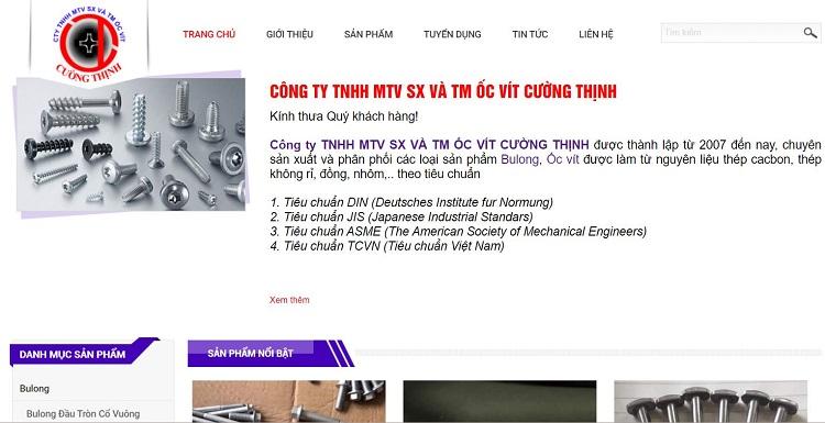 Công ty TNHH MTV SX và TM ốc vít Cường Thịnh