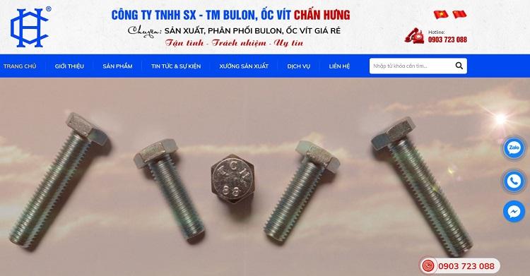 Công ty sản xuất ốc vít Chấn Hưng