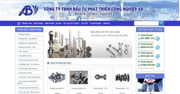 Công ty TNHH Đầu tư phát triển Công Nghiệp AB - công ty sản xuất ốc vít hàng đầu