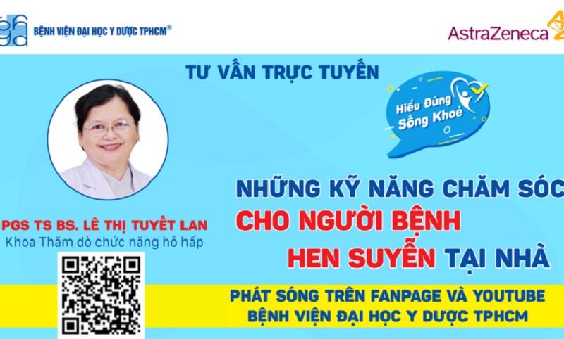 PGS.TS.BS Lê Thị Tuyết Lan là bác sĩ chuyên khoa hô hấp nhi tphcm