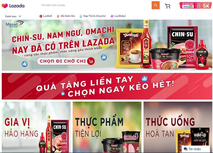 Đi chợ cùng Lazada - siêu thị thực phẩm online hcm
