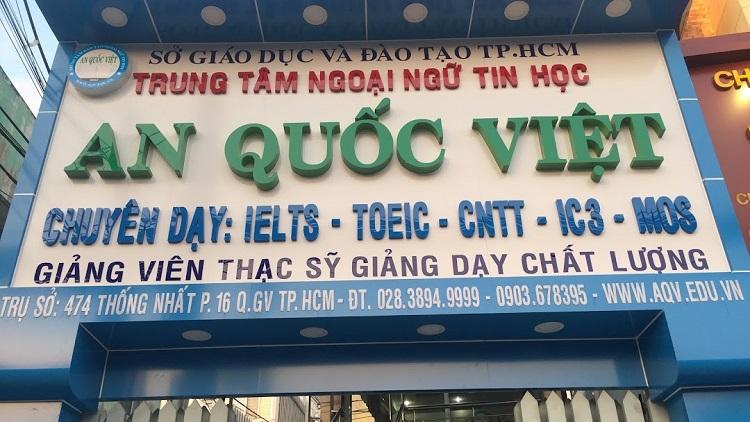 Trung tâm An Quốc Việt - trung tâm luyện thi MOS TPHCM