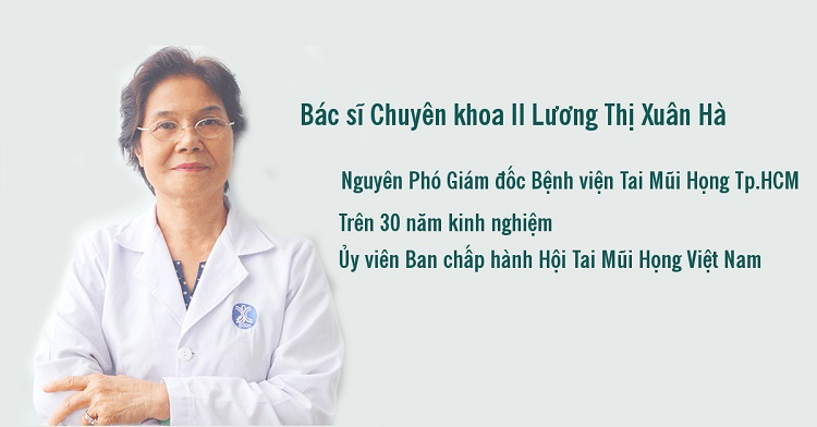 Bác sĩ Chuyên khoa II Lương Thị Xuân Hà - bác sĩ tai mũi họng giỏi ở tphcm