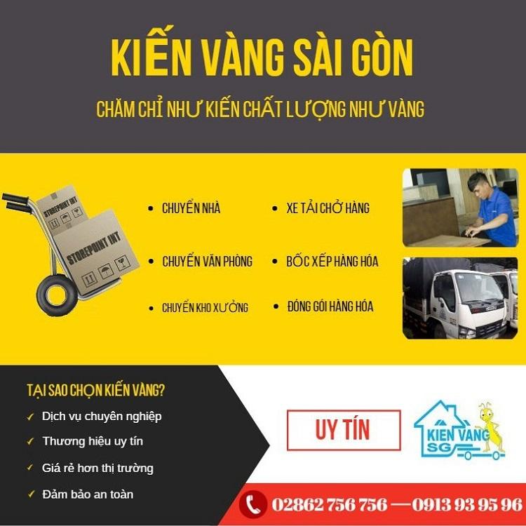 Kiến Vàng Sài Gòn – dịch vụ chuyển nhà quận 8