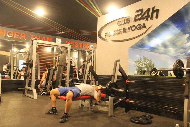 Phòng Tập Club24h Fitness & Yoga là phòng tập yoga quận 5